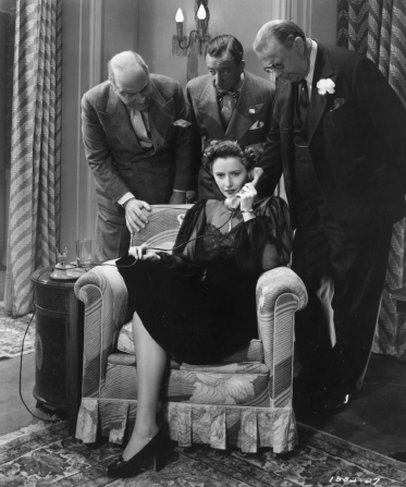 Eric Blore, Melville Cooper, Charles Coburn, Barbara Stanwyck