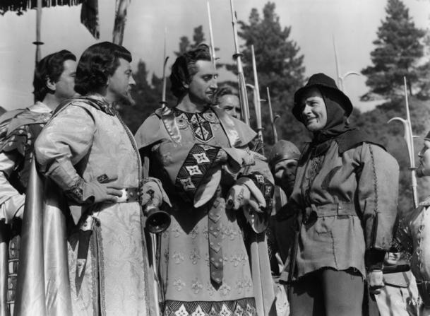Claude Rains, Basil Rathbone, Errol Flynn