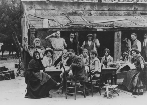 Eugénie Buffet, Albert Dieudonné, Abel Gance, Anabella, Marguerite Abel Gance, Yvette Dieudonné