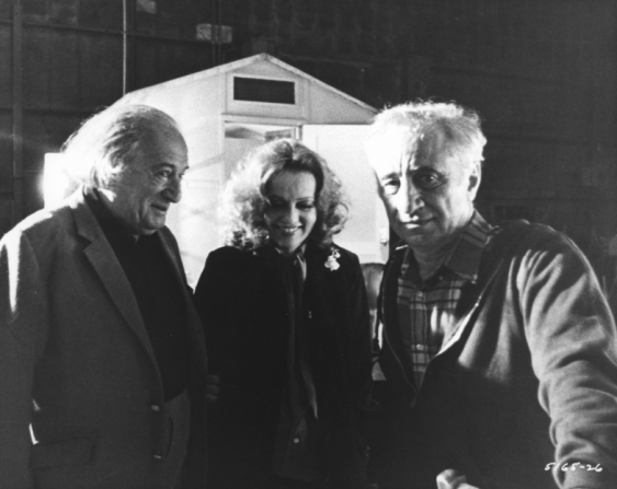 Sam Spiegel, Jeanne Moreau, Elia Kazan