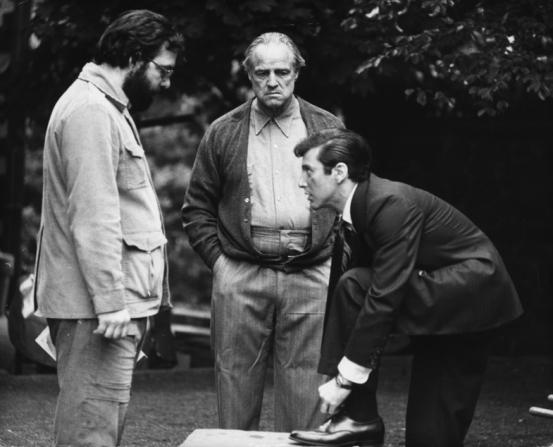 Francis Ford Coppola, Marlon Brando, Al Pacino
