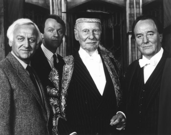 John Thaw, Kevin Whately, John Gielgud, Robert Hardy
