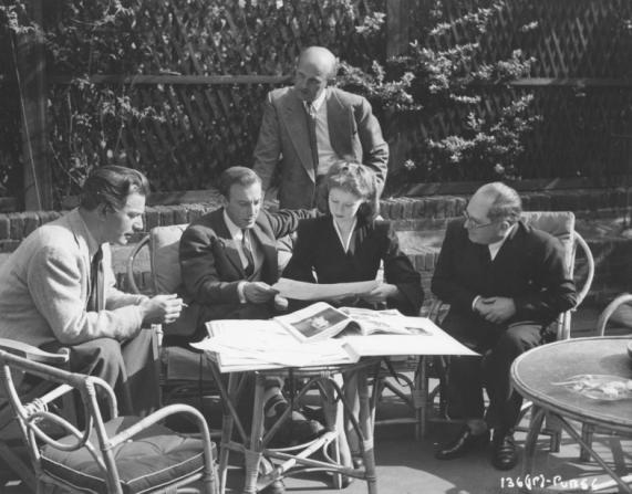 Anton Walbrook, Jacques Fath, Michael Powell, Emeric Pressburger