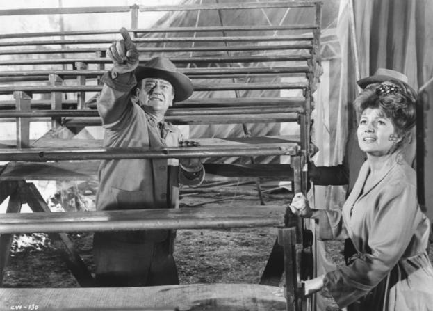John Wayne, Rita Hayworth