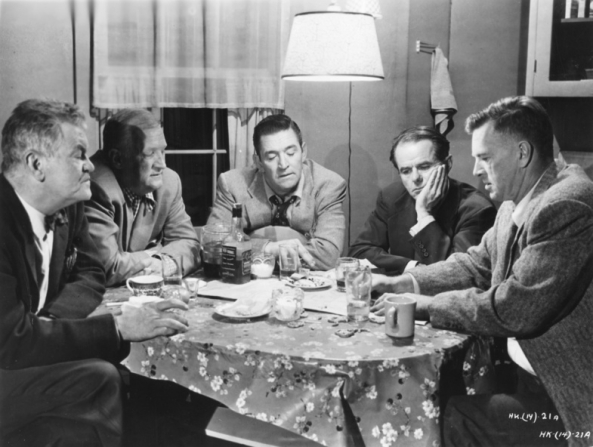 Jay C. Flippen, Joseph Sawyer, Ted De Corsia, Elisha Cook Jr, Sterling Hayden