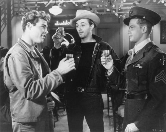 Guy Madison, Robert Mitchum, Bill Williams