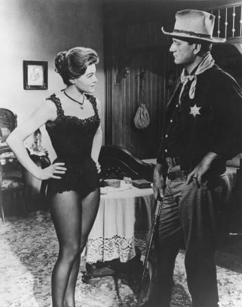 Angie Dickinson, John Wayne