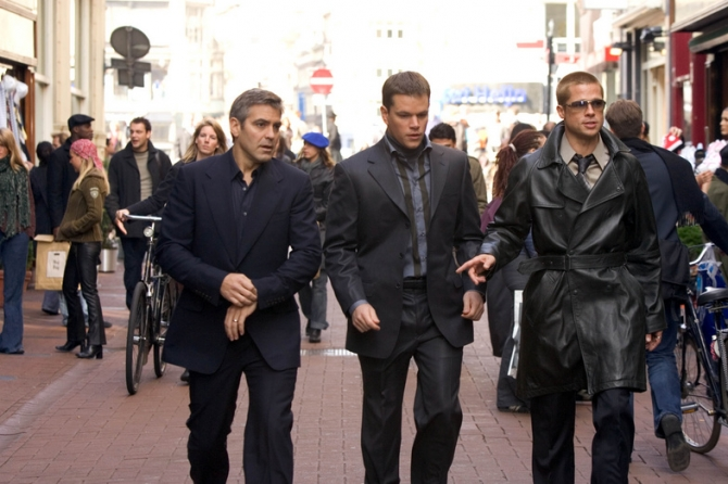 George Clooney, Matt Damon, Brad Pitt