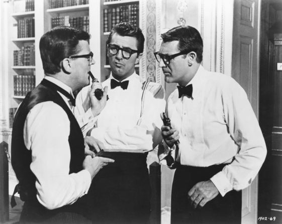 Robert Mitchum, Cary Grant