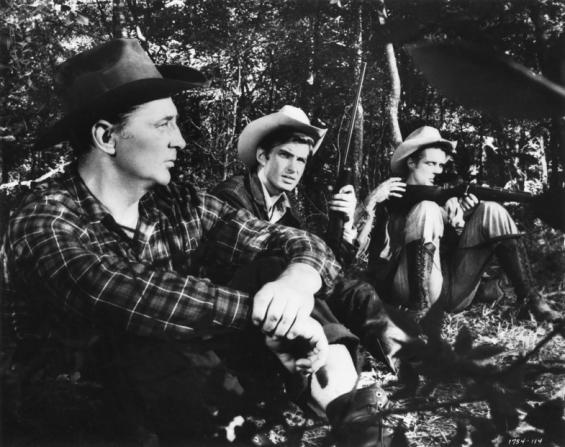 Robert Mitchum, George Hamilton, George Peppard