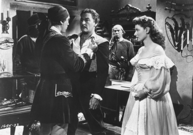 Anthony Quinn, Errol Flynn, Maureen O'Hara