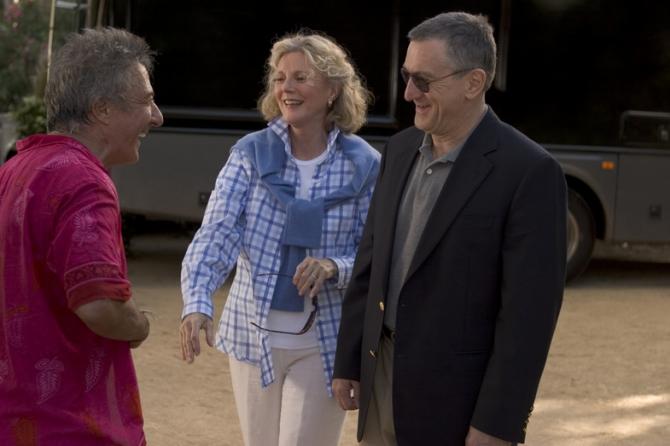 Dustin Hoffman, Blythe Danner, Robert De Niro