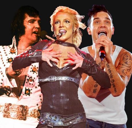 Elvis Presley, Britney Spears, Robbie Williams