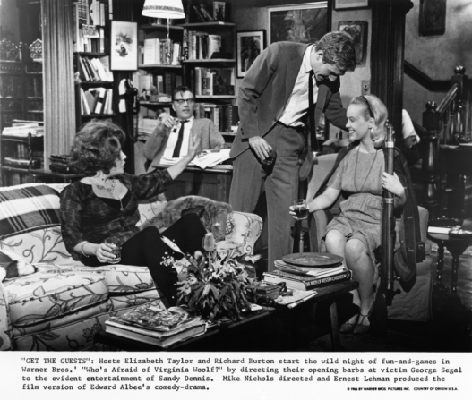 Elizabeth Taylor, Richard Burton, George Segal, Sandy Dennis