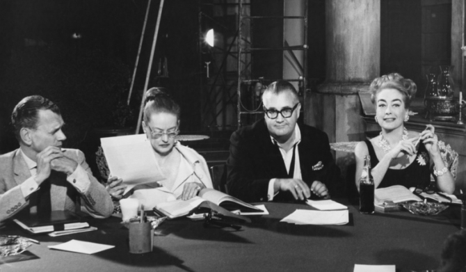 Robert Aldrich, Joan Crawford, Bette Davis, Joseph Cotten