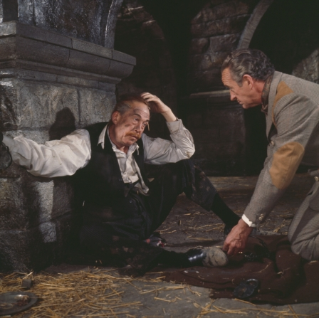 John Huston, David Niven