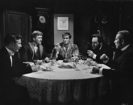 Tom Helmore, Alan Young, Rod Taylor, Sebastian Cabot, Whit Bissell