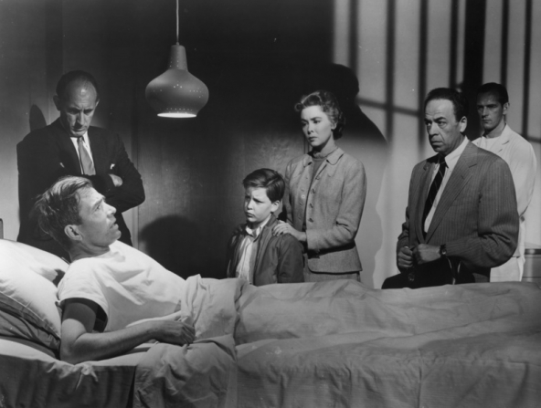 Robert F. Simon, James Mason, Christopher Olsen, Barbara Rush, Roland Winters