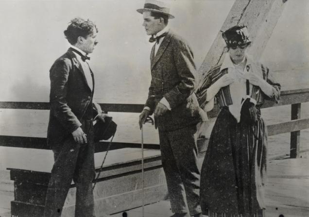 Charles Chaplin, Charley Chase, Norma Nichols
