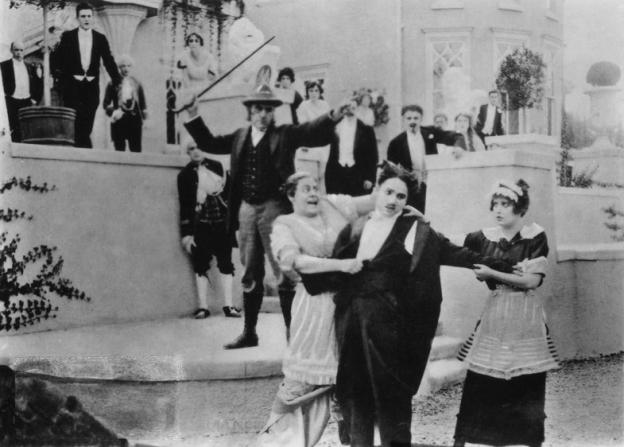 Charles Bennett, Marie Dressler, Charles Chaplin, Mabel Normand