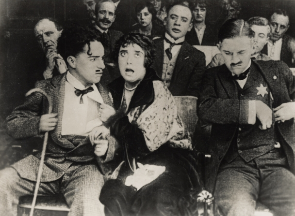 Charles Chaplin, Mabel Normand, Charley Chase