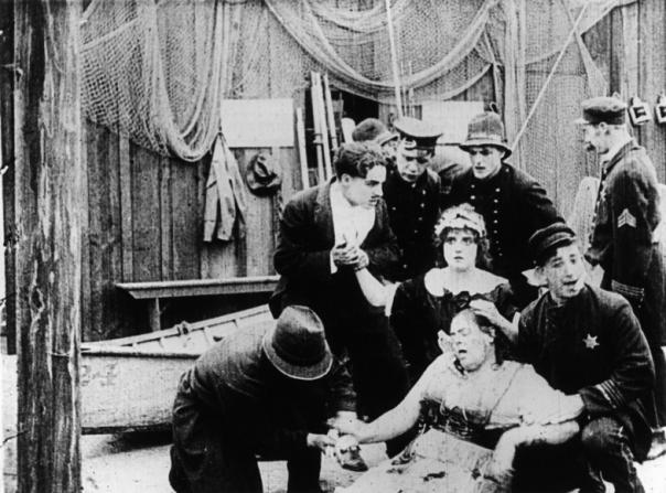 Charles Chaplin, Mabel Normand, Marie Dressler