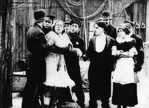 Marie Dressler, Charles Chaplin, Mabel Normand