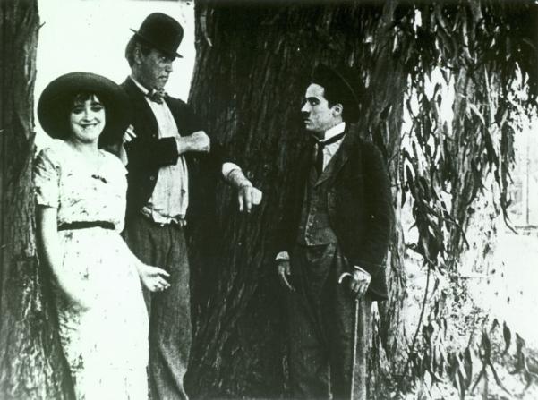 Mabel Normand, Mack Sennett, Charles Chaplin