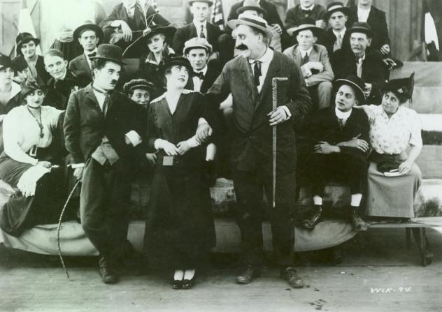 Charles Chaplin, Mabel Normand, Mack Swain