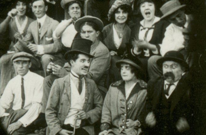 Chester Conklin, Mabel Normand, Charles Chaplin