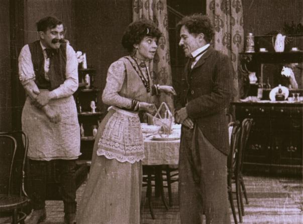 Edgar Kennedy, Minta Durfee, Charles Chaplin