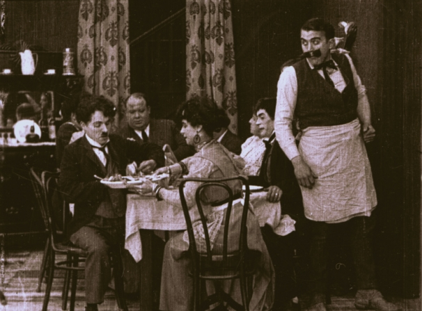 Charles Chaplin, Minta Durfee, Edgar Kennedy