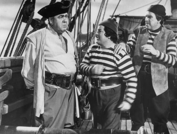 Charles Laughton, Bud Abbott, Lou Costello