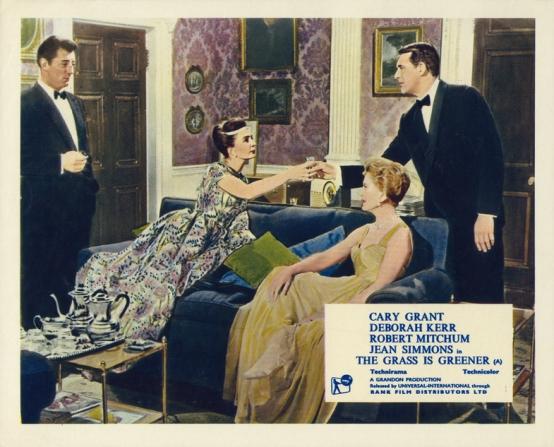 Robert Mitchum, Jean Simmons, Deborah Kerr, Cary Grant