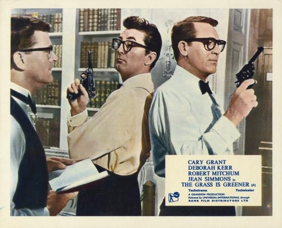 Moray Watson, Robert Mitchum, Cary Grant