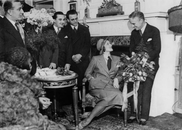 Charles Chaplin, Marlene Dietrich