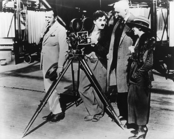 Charles Chaplin, Mary Pickford, Douglas Fairbanks Sr, Roland Totheroh