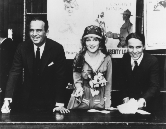 Charles Chaplin, Douglas Fairbanks Sr, Mary Pickford