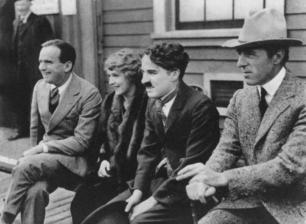 Charles Chaplin, Douglas Fairbanks Sr, Mary Pickford, D.W. Griffith