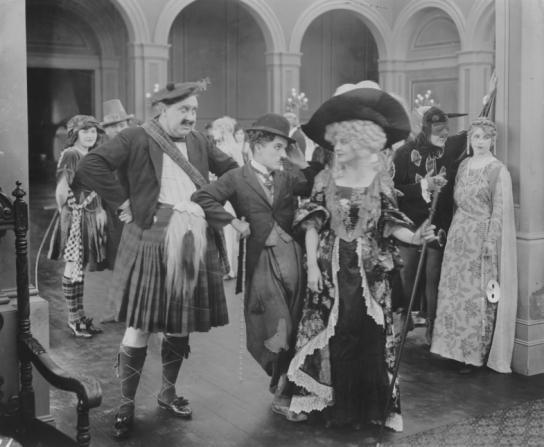 Mack Swain, Charles Chaplin, Edna Purviance