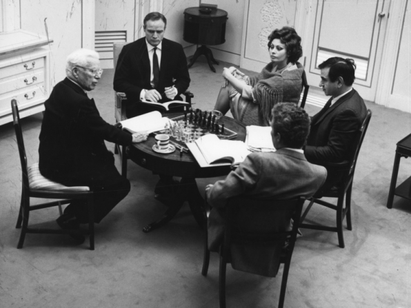 Charles Chaplin, Marlon Brando, Sophia Loren, Jerome Epstein, Sydney Chaplin