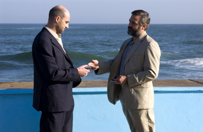 Mark Strong, George Clooney
