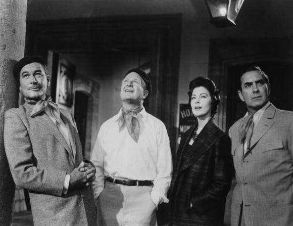 Errol Flynn, Eddie Albert, Ava Gardner, Tyrone Power