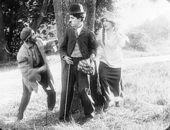Leo White, Charles Chaplin, Edna Purviance