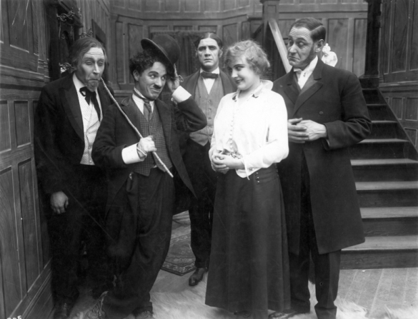 Paddy Mcguire, Charles Chaplin, Lloyd Bacon, Edna Purviance, Fred Goodwins