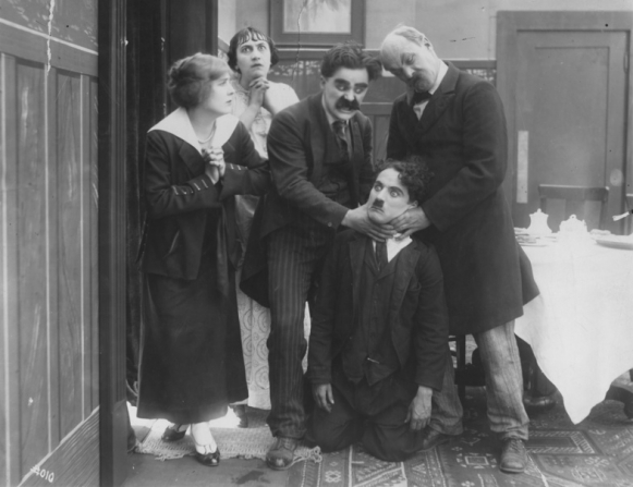 Edna Purviance, Marta Golden, Billy Armstrong, Charles Chaplin, Charles Inslee
