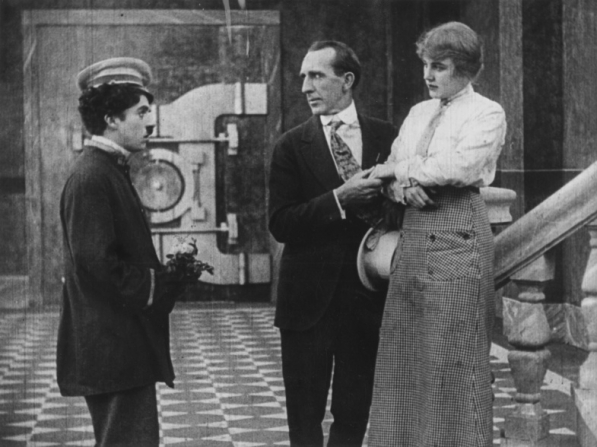 Charles Chaplin, Carl Stockdale, Edna Purviance