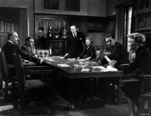William Holden, Barbara Stanwyck, Paul Douglas, Louis Calhern, Fredric March