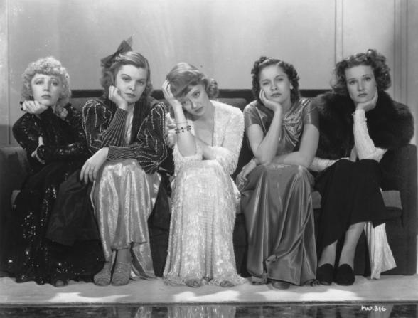 Bette Davis, Lola Lane, Mayo Methot, Rosalind Marquis, Isabel Jewell