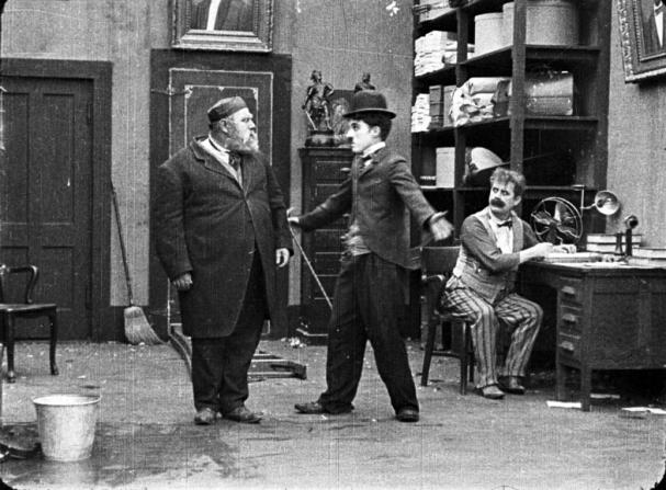 Henry Bergman, Charles Chaplin, John Rand